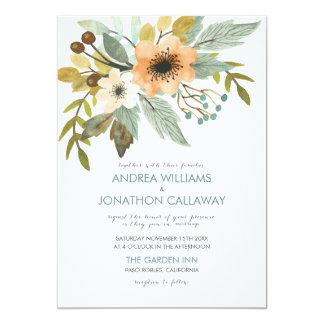 Faire-part de mariage de floraison d'aquarelle