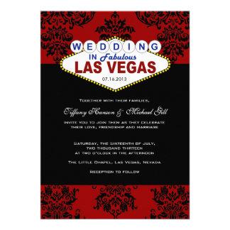 Faire-part de mariage de Las Vegas de vivats