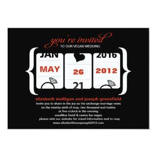 Faire-part de mariage de machine à sous carton d'invitation  12,7 cm x 17,78 cm