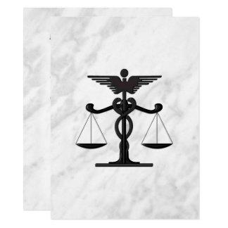 Faire-part de mariage de médecin et d'avocat