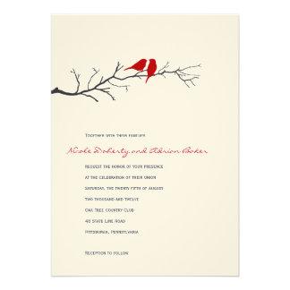 Faire-part de mariage de silhouettes d oiseaux - r