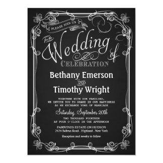 Faire-part de mariage élégant de tableau carton d'invitation  13,97 cm x 19,05 cm