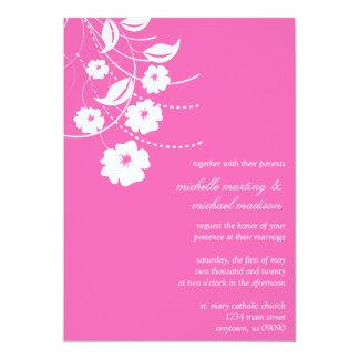 Faire-part de mariage floral de Flourish (rose