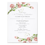 Faire-part de mariage floral de roses de jardin carton d'invitation  13,97 cm x 19,05 cm
