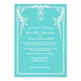 Faire-part de mariage formel élégant, bleu tiffany