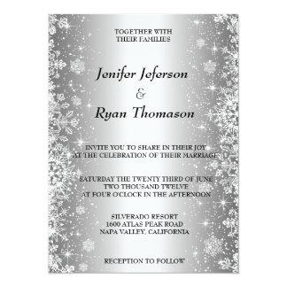 Faire-part de mariage mignon d'hiver carton d'invitation  13,97 cm x 19,05 cm