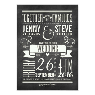 FAIRE-PART DE MARIAGE MODERNE DE TABLEAU CARTON D'INVITATION  12,7 CM X 17,78 CM