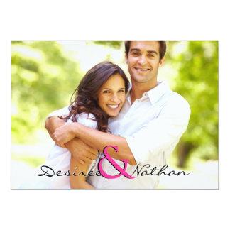 Faire-part de mariage personnalisable de photo carton d'invitation  12,7 cm x 17,78 cm