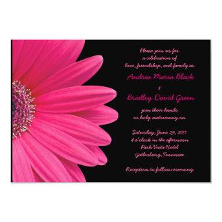 Faire-part de mariage rose de Gerbera - rose et Carton D'invitation 12,7 Cm X 17,78 Cm