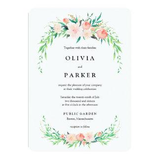 Faire-part de mariage sensible de bouquet