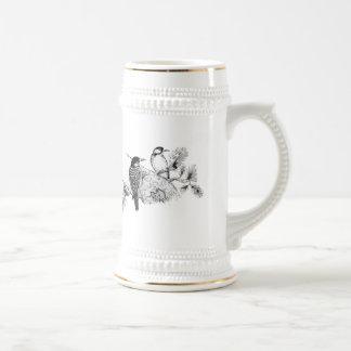 Faire-part de mariage vintage d inséparables mugs à café