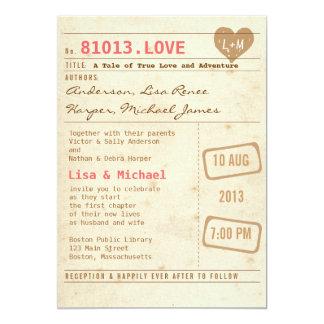 Faire-part de mariage vintage de carte de