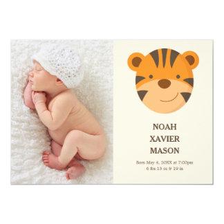 Faire-part de naissance du tigre |
