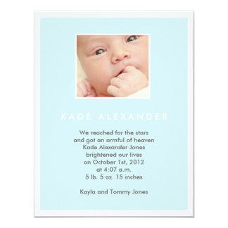 Faire-part de naissance carton d'invitation 10,79 cm x 13,97 cm