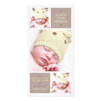 Faire-part de naissance moderne de bébé de photo d photocarte personnalisée
