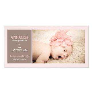 Faire-part de naissance spécial de bébé de photo d cartes avec photo