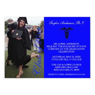 Faire-part médical bleu d'obtention du diplôme