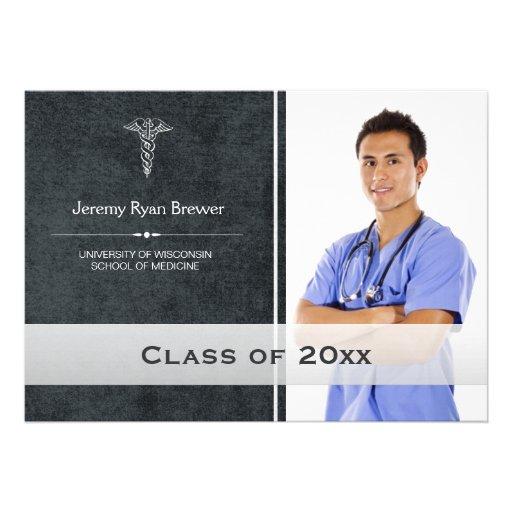 Faire-part médical de photo d'obtention du diplôme
