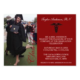 Faire-part médical marron d'obtention du diplôme