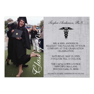 Faire-part médical rustique d'obtention du diplôme