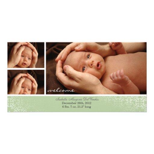 Faire-part neutre de Photocard de bébé Photocartes Personnalisées