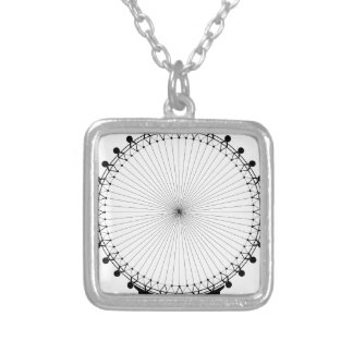 Fairground Big Wheel Silver Plated Necklace