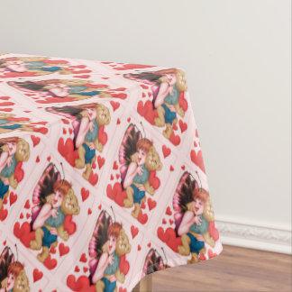 """FAIRIE AND BEAR Tablecloth VALENTINE 52""""x70"""""""