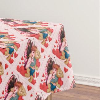 """FAIRIE AND BEAR Tablecloth VALENTINE 60""""x84"""""""