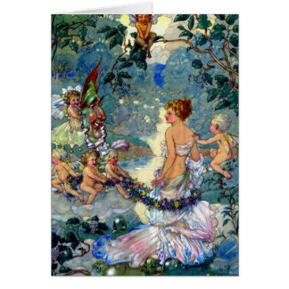 Fairies Adorn a Beautiful Woman, Card