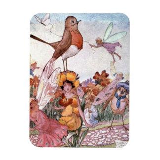Fairies and Birds in a Garden, Magnet