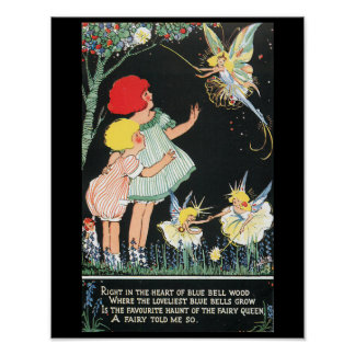 Fairies and Bluebells Poster