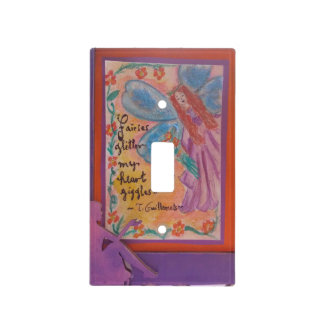 fairies and hearts light switch cover