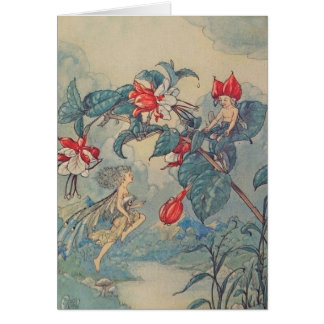 Fairies at Play in a Garden, Card