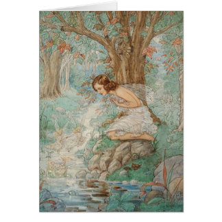 Fairies at the Stream - Card