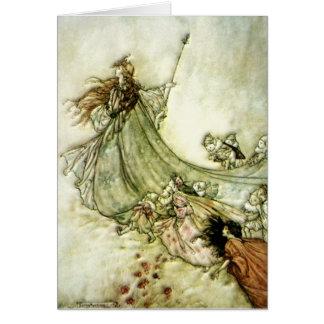 Fairies Away - Arthur Rackham Card