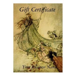 Fairies Away Gift Certificate - Arthur Rackham Business Card Template