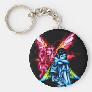 Fairies Basic Round Button Keychain
