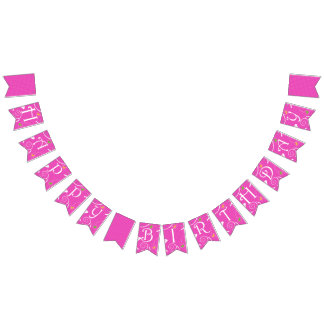 Fairies Birthday Swallowtail Party Bunting Banner