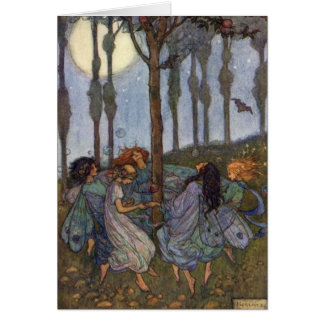 Fairies Dance Around a Tree, Card