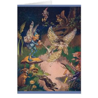 Fairies in a Nighttime Garden, Card