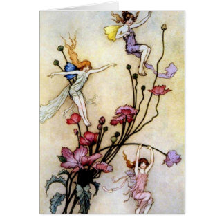 Fairies in the Flowers - Card