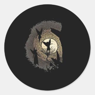 Fairies in the Moonlight Round Sticker