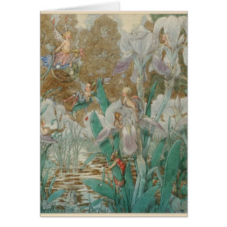 Fairies & Irises by the Stream, Card