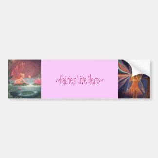 Fairies Live Here - Bumper sticker