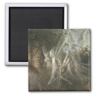 Fairies Looking Through A Gothic Arch,1864 Square Magnet
