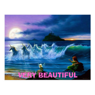 fairies-mermaids-and-unicorns, VERY BEAUTIFUL Postcard