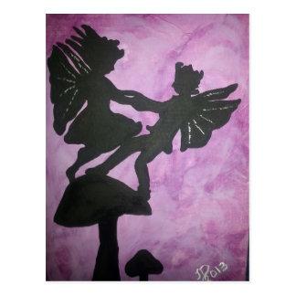 Fairies on Mushroon.jpg Postcard