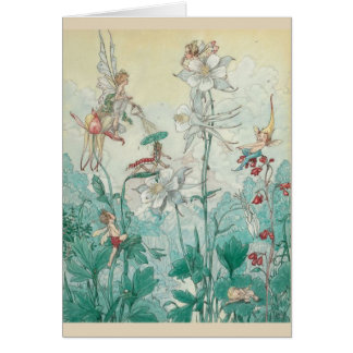 Fairies Playing in a Garden, Card