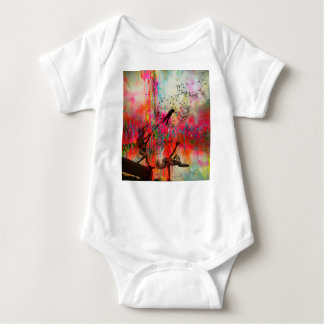 Fairies Spreading Daisy Seeds Baby Bodysuit
