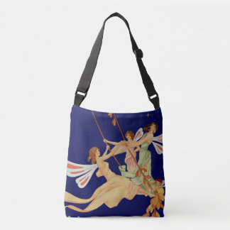 """""""Fairies Swing"""" Cross-Body Tote Bag"""